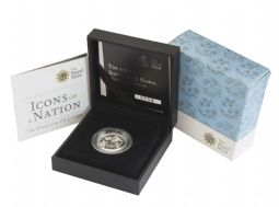 2014 Silver Proof Piedfort Floral Scotland One Pound for sale